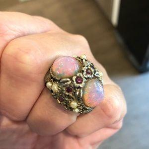 Vintage renaissance jeweled ring